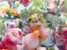 Heirloom Grape Tomato Salad recipe from Robert Irvine via Food Network