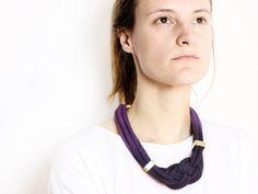 Purple Rain  Necklace in purple with beads von ChezKristel auf Etsy, €35.50
