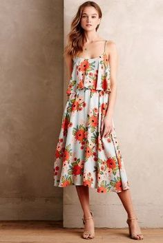 #Paper Crown + Rifle Paper Co. Poppy Field Dress #anthrofave #anthropologie