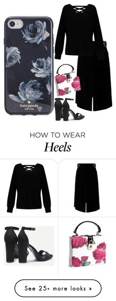 Designer Clothes, Shoes & Bags for Women How To Wear Heels, Miss Selfridge, Kate Spade, Outfit Ideas, Shoe Bag, Night, Rose, Polyvore, Stuff To Buy