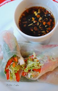 Oh Cake: Vietnamese Inspired Spring Rolls with Honey Chili Sauce