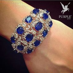 """55 Likes, 4 Comments - PURPLE Official (@purplebyanki) on Instagram: """"Perfectly BLUED! This Sapphire and diamond cuff by @chopard will satisfy even the most critical…"""""""