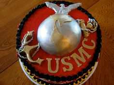 Marine Corps Groom's Cake (by Fantasy Frostings)