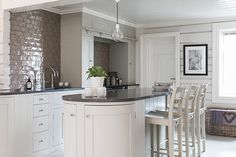 Suffolk kitchen painted in Dove Grey #neptunekitchen www.neptune.com
