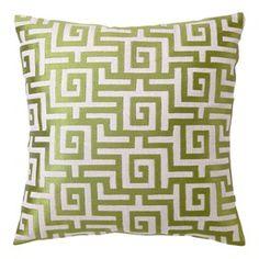 D.L. Rhein Greek Key I Pillow - so in love with green this season.