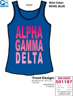 Georgia Tech AGD Spring Break tanks