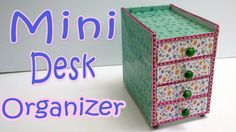 I LOVE this idea from 'Ana | DIY Crafts' for making an organizer that fits your style, your space needs, and your budget. This cute little mini organizer has places for pens and stickers so they are within arms reach (but still out of sight.) It even has a spot for your favorite jot pad and pen for quick notes. Made with foam core board and patterned paper (plus a little ribbon if you have...