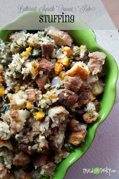 Butternut Squash, Quinoa, & Kale Stuffing