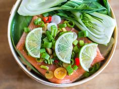 Scrumptious Fish Dishes: Steamed Salmon With Pak Choi | Recipe