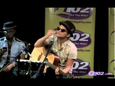 """Bruno Mars singing """"I Will Always Love You"""" on Q102"""