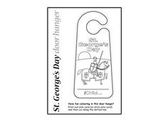 Let your child print off and colour in our St. George's Day door hanger design. This fun printable door hanger template is a perfect craft activity to celebrate St. George's Day with.Please ensure ALL cutting out is performed with an adult!