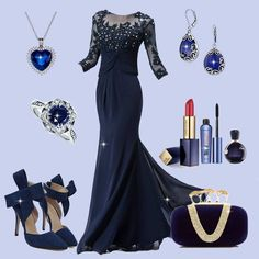 Love this gorgeous collection? #Outfit #Necklace #Ring #Earrings #Shoes #Clutch #fashion