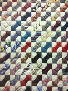 Bow Tie Quilt: Made with ties