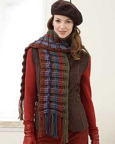 Super Value - Striped  #scarf free #crochet pattern