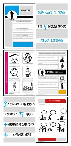 Engaging activities to teach media literacy skills to grades 3 - The package is a great media resource for teachers as it contains extensive lesson plan content and strategies for teaching media literacy concepts. The package covers every aspect of the Visual Literacy, Media Literacy, Literacy Skills, English Activities, Media Studies, Writing Strategies, Teacher Resources, School Resources, Computer Science