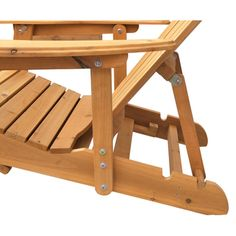 Reclining Adirondack Chair with Pull-out Ottoman | Overstock.com