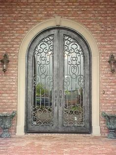 Florida approved hurricane rated iron doors.