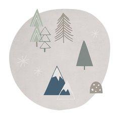Lilipinso Kinderteppich Baumwolle 'Wald' hellgrau/blau/grün Ø 150cm - im Fantasyroom Shop online bestellen oder im Ladengeschäft in Lörrach kaufen. Besuchen Sie uns!