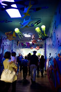 Ceiling decoration ideas for underwater VBS theme at Ocean ...