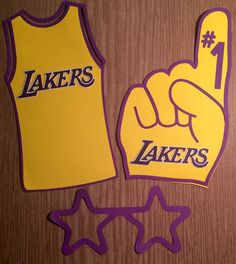 NBA LA Lakers Photo Booth Props by JJJBCRAFTS on Etsy
