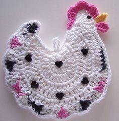 Crocheted Chicken Potholder