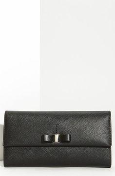 Salvatore Ferragamo 'Vara' Continental Wallet available at #Nordstrom Sale color: borolo (burgandy)