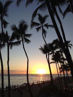 Sunset at Honolulu-Hawaii