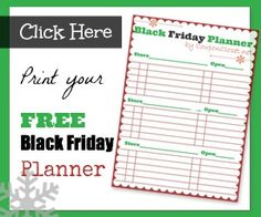 Free Black Friday Planner