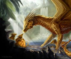 Are you a dragon of magic? A dragon of time? A dragon of dark and menacing power? Could you be a dragon of healing? Or could you be an ice dragon or wyvern? Bronze Dragon, Gold Dragon, Emerald Dragon, Yellow Dragon, White Dragon, Fantasy Wesen, Fantasy Art, Types Of Dragons, Dragon Illustration