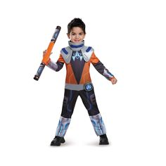 Halloween Miles from Tomorrowland Boys' Deluxe Costume - Small, Size: S(4-6), Blue