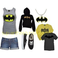 For my little sister Kayla, she love Batman and would look super cute in this outfit!