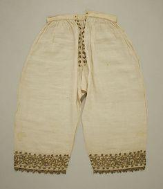 16th Century Linen Trousers, Italian. Metropolitan Museum of Art, New York.
