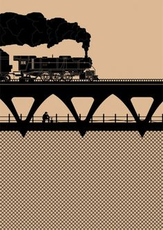 Treni #illustrazione #grafica #pattern