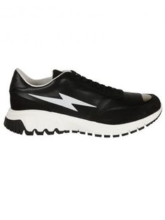NEIL BARRETT Neil Barrett: Black/White Thunderbolt Sneakers. #neilbarrett #shoes #https: