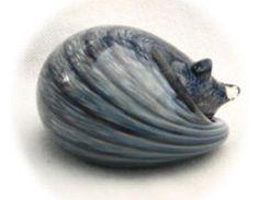 Nunwell Glass - Sleeping Cat Paperweights   SattvaGallery.com