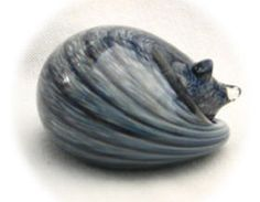 Nunwell Glass - Sleeping Cat Paperweights | SattvaGallery.com