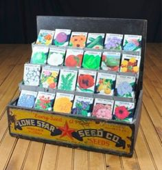 Seed Packet Display. I wish I could afford this