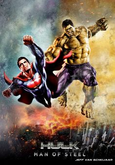 #Hulk #Fan #Art. (Superman VS Hulk Fanart Poster) By: Jeffery10. (THE * 5 * STÅR * ÅWARD * OF: * AW YEAH, IT'S MAJOR ÅWESOMENESS!!!™)