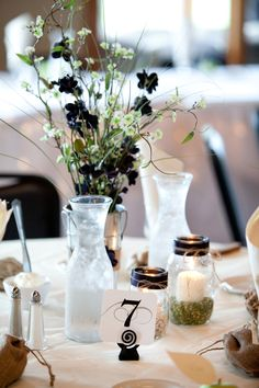 Love the vintage feel to the tables! Photo by Ashley #MNWeddingPhotography