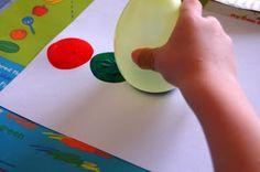 Balloon painted caterpillar