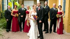Bridal party at the Hotel Mazarin!  Upbeat Southern Garden Fête   New Orleans, LA