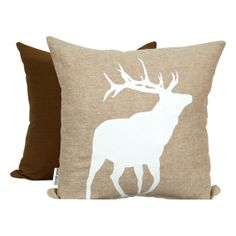 White Caribou Print, on Camel Brown by Mod Pieces Camel, Moose Art, Throw Pillows, Brown, Unique Jewelry, Handmade Gifts, Etsy, Vintage, Kid Craft Gifts