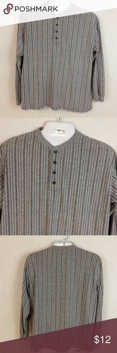 Basic Equipment Men's Grey Striped Shirt Comfy shirt, button closure, cotton blend Basic Equipment Shirts Polos