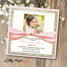 Items similar to Photo Quinceanera Invitation Blush Quinceanera Invitation Elegant Glitter Blush and Gold on Etsy Quince Invitations, Sweet Sixteen Invitations, Elegant Invitations, Doily Invitations, Blush And Gold, Blush Pink, Reception Card, Layers Design, Response Cards