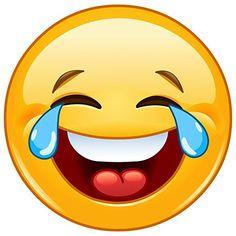 """Emoji Aufkleber """"Smile with tears"""", Ø 9cm, Art. kfz_215, außenklebend für Auto, LKW, Motorrad, Moped, Mofa, Roller, Fahrzeuge, UV- und witterungsbeständig, für Waschanlagen geeignet"""