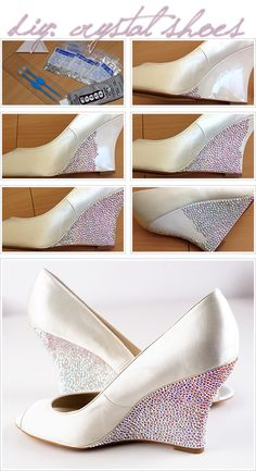 How-to Apply Swarovski Crystal / Rhinestone onto Shoes (Heels, Wedges)
