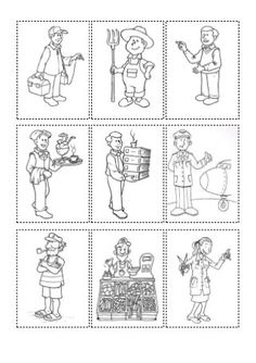 Preschool Worksheets, Preschool Learning, Preschool Activities, Spanish Lessons, Learning Spanish, People Who Help Us, Community Helpers, Sunday School Crafts, Children's Literature