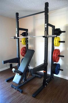 We are XYSFITNESS company providing many kinds of gym fitness euqipment just like the Half Power Rack for you .These Power Racks with bright color and trendy style will be good for A Squat Rack's Versatility , and it also will make your life more colorful Dream Home Gym, At Home Gym, Power Rack, Home Workout Equipment, Fitness Equipment, Gym Workouts, At Home Workouts, Gym Rack, Small Home Gyms