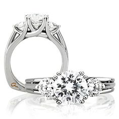 A.JAFFE Diamond Semi-Mount Ring -  by special order