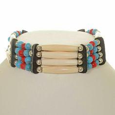 Tribal Indian Bone Choker Apache Warrior Style